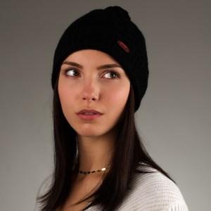 Mütze aus Kaschmir in Schwarz von mongs®