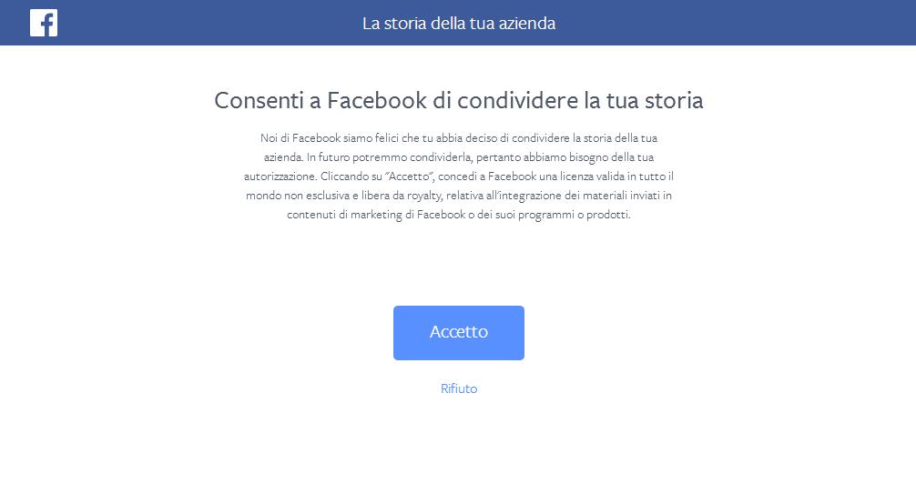 La storia della tua azienda su Facebook