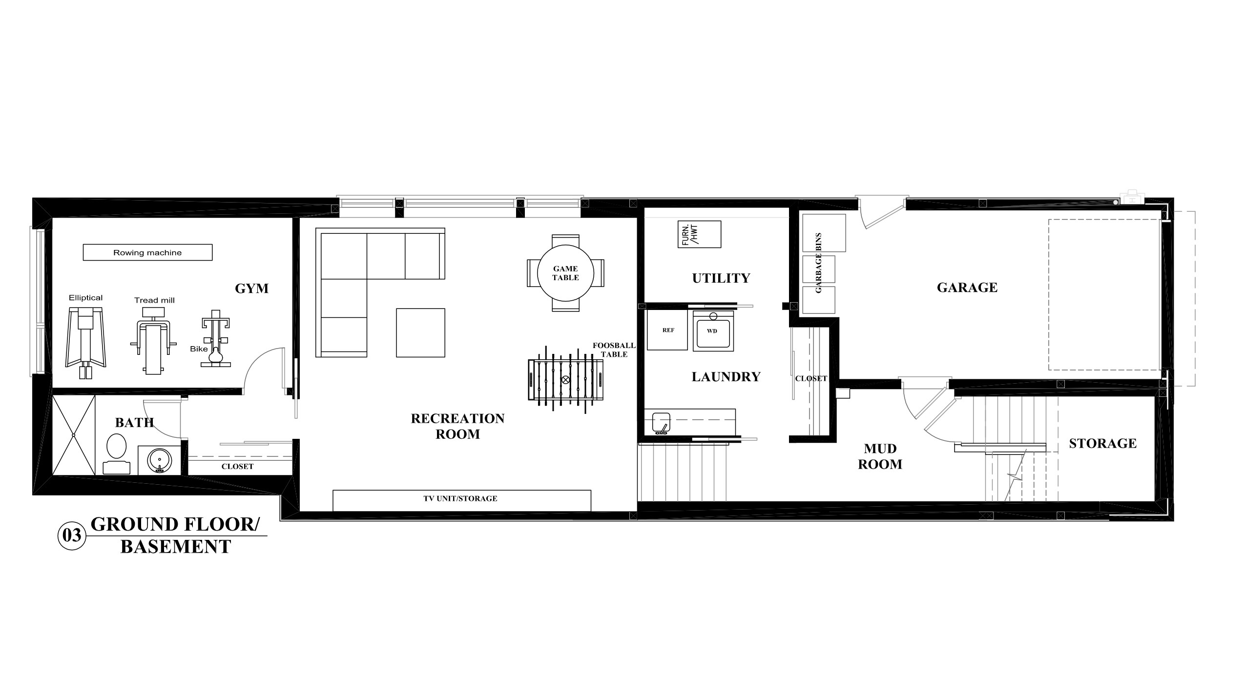 House Perspective With Floor Plan