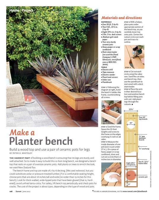 Make a Planter Bench