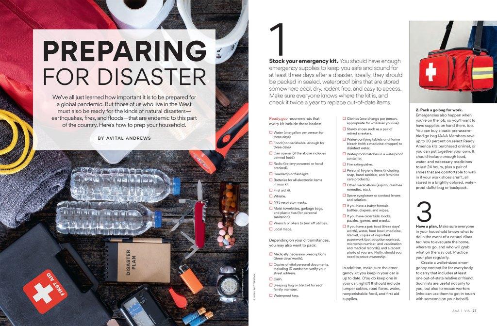 Preparing For Disaster spread