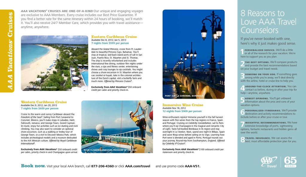 July + August 2012 Travel insert spread