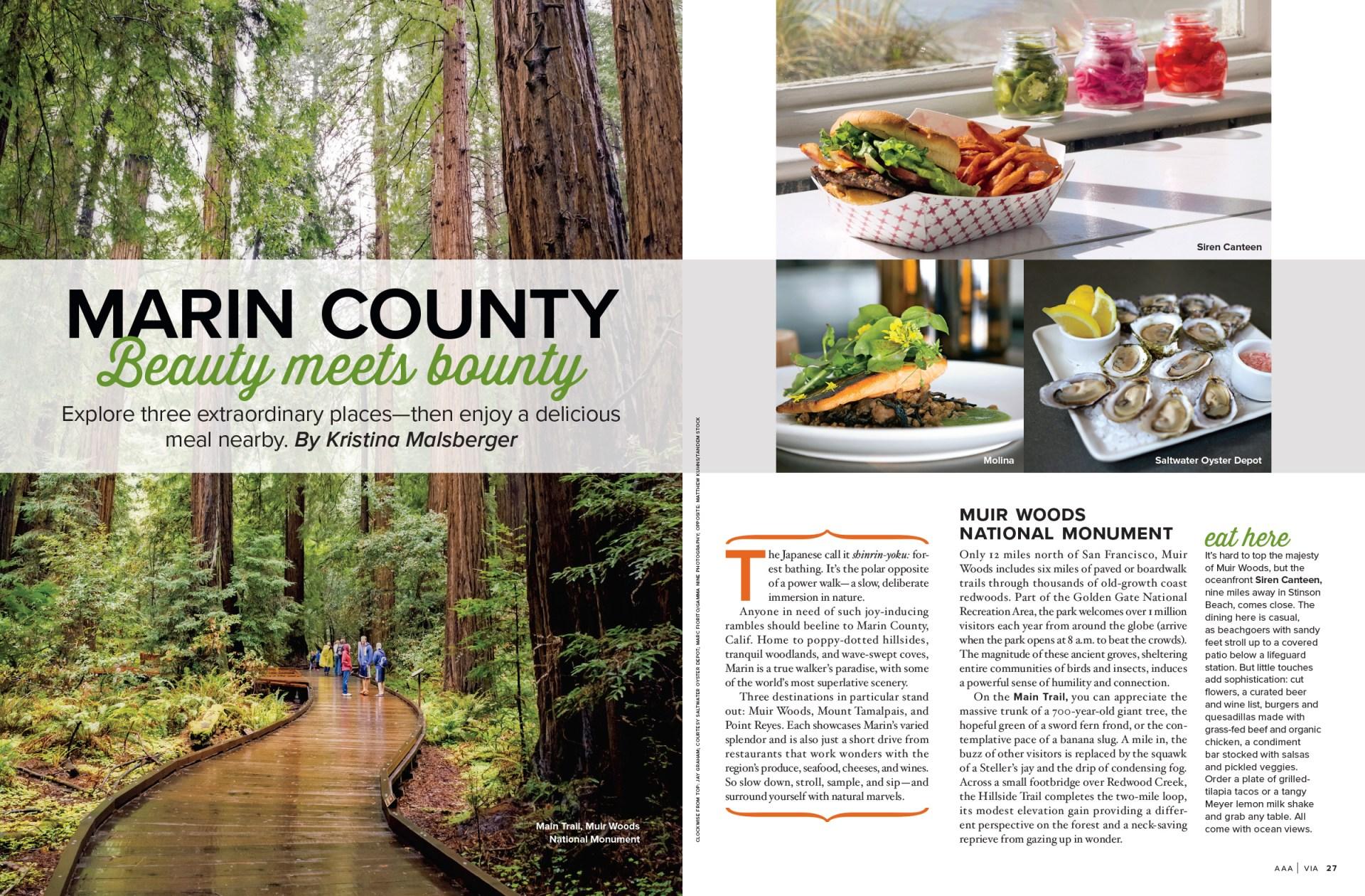 Marin County Beauty Meets Bounty spread