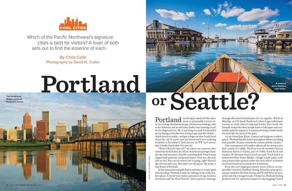 Portland or Seattle spread