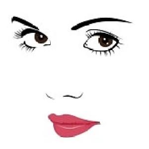 26152610-cute-young-sad-suspicious-or-seductive-girl-looking-at-camera-easy-editable-layered-illustration