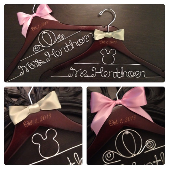 Disney Wedding Hanger Set