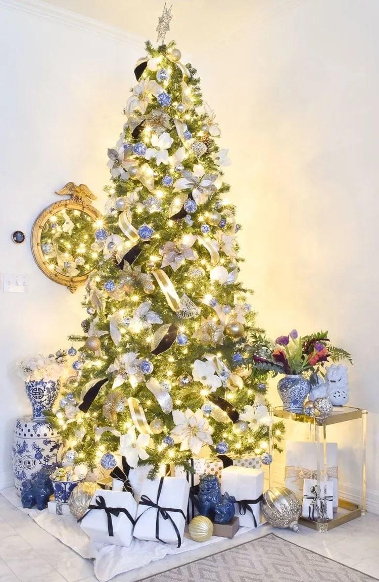 Chinoiserie Christmas Tree Decor Ideas  Monica Wants It