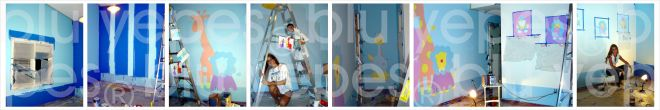 Jungle Mural - Jungle Room Wall Design Painting Process by Monica Yepes - Children´s Murals New York City