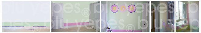Farm Room Wall Design - Painting Process
