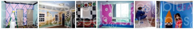 Kids Wall Design by Blu Yepes- Kids Murals NYC-Children Murals by Monica Yepes