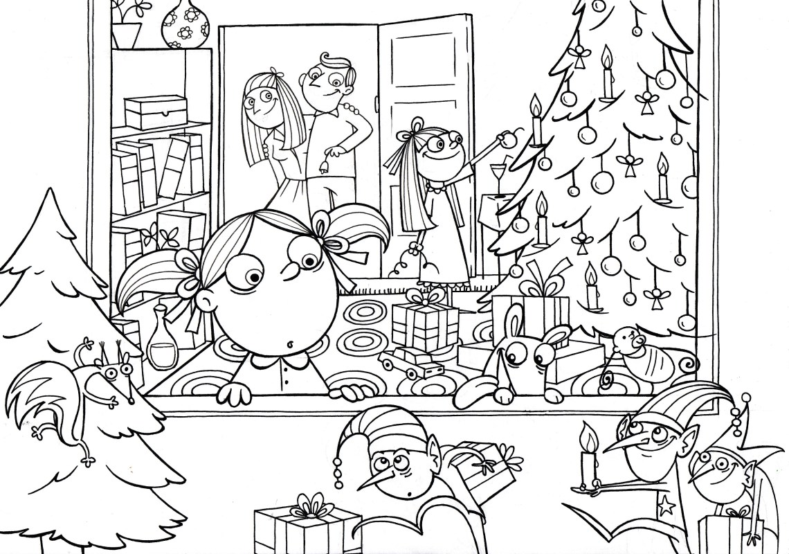 Free coloring pages - by Monika Vas | christmas colouring pages