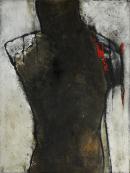 Amputierte Freundschaft - Marmormehl, Champagnerkreide und Tuschen auf Leinwand - 50 x 60 cm (verkauft)