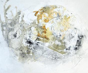 Eskargo - Acryl, Beizen und Draht auf Leinwand - 60 x 50 cm