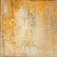 Farbklang VI - Marmormehl, Zen-Strich und Pigmente auf Leinwand - 40 x 40 cm