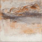 Farbklang VIII - Baumaterial, Mohnöl und Dispersionsbinder auf Leinwand - 40 x 40 cm