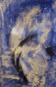 Kranich - Marmormehl, Schleiernessel, Pigmente und ZEN-Strich auf Leinwand - 90 x 140 cm