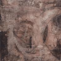 Mystique - Sumpfkalk, Gipshaftputz, Buchbinderleim, Tuschen und Pigmente auf Leinwand - 80 x 80 cm