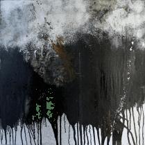 Smilla - Acryl, Collage auf Leinwand - 80 x 80 cm