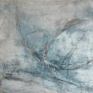 Veränderte Perspektiven - Sumpfkalk, Marmormehl, Tuschen und Pigmente auf Leinwand - 80 x 80 cm