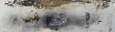 In der Tiefe des Moments – Marmormehl, Sumpfkalk, Kaffee, Tuschen – 150 x 50 cm – Kunstakademie Gerlingen