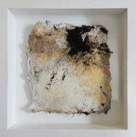 Kleine Kostbarkeiten V - Seidelbastpapier, Baumaterial, Sumpfkalk, Pigmente, Tuschen – 20 x 20 cm – Kunstfabrik Hannover 2017