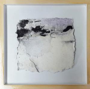 Kleine Kostbarkeiten X - Seidelbastpapier, Baumaterial, Sumpfkalk, Pigmente, Tuschen – 30 x 30 cm – Kunstfabrik Hannover 2017