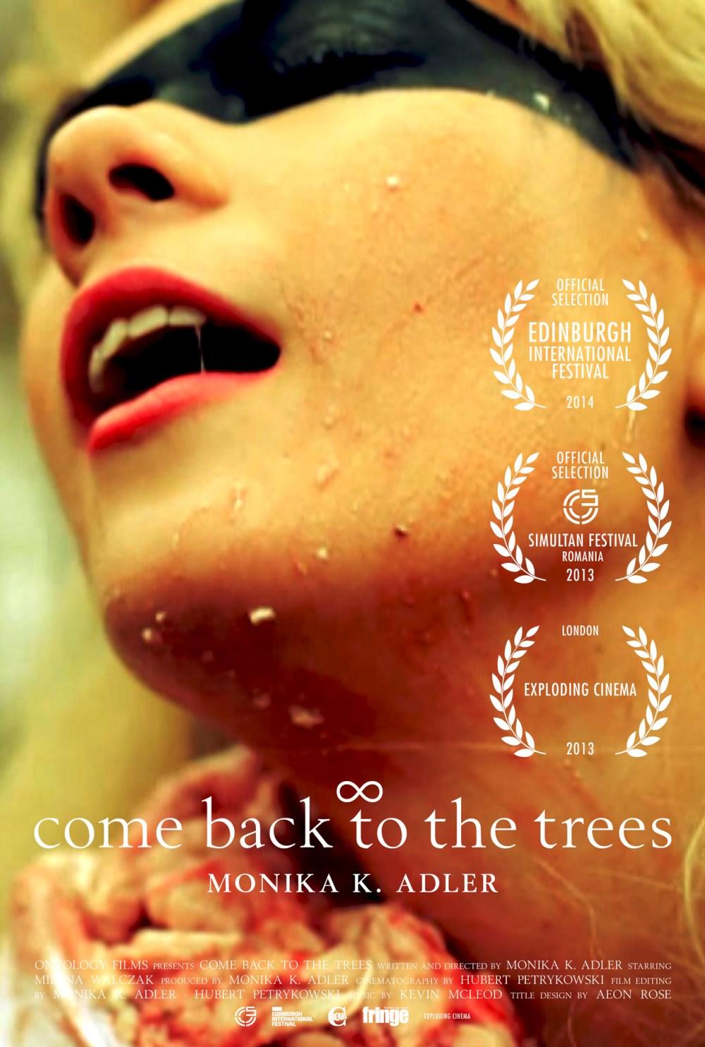 Monika K. Adler, come back to the trees, 2013, film poster, Aeon Rose