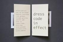 dress code in effect