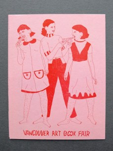 Vancouver Art Book Fair Postcard by Dana Kearley