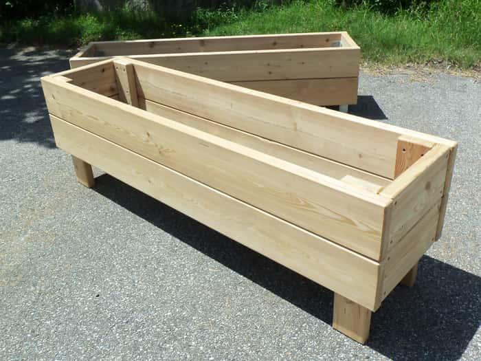 jardiniere bac en bois mobilier d