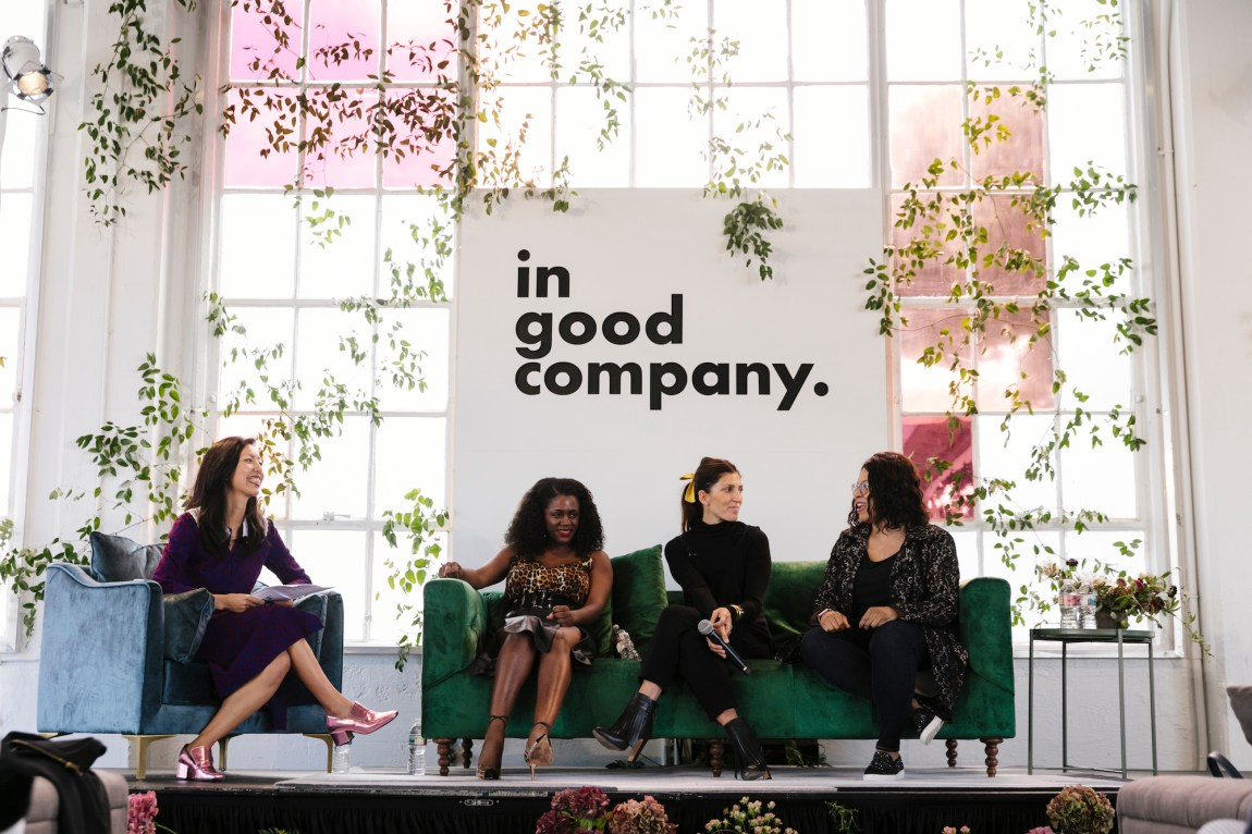 In Good Company Raising Capital Panel with Bee Shapiro, Monique Woodard, Ariane Goldman, and Cheryl Contee