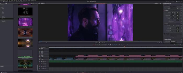 La serie di fantascienza tedesca Spides in post-produzione con DaVinci Resolve Studio