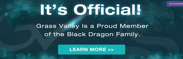 Completata l'acquisizione di Grass Valley da parte di Black Dragon Capital