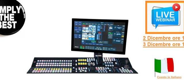2 e 3 dicembre, Video Progetti presenta il mixer video Grass Valley KULA