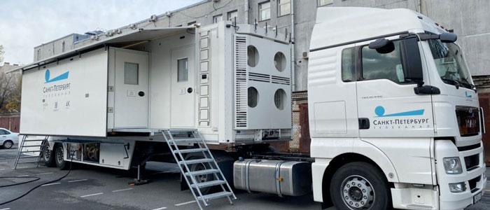 Broadcast Solutions (Germania) consegna il primo OB Van UHD a San Pietroburgo