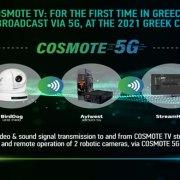 Prima tv sulla rete 5G in Grecia per la finale di campionato