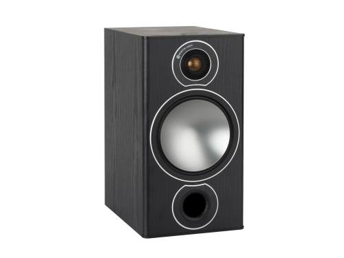 small resolution of bronze 2 grille less bookshelf speakers with a black oak vinyl finish