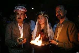 Dohuk, Irak: Los yazidíes celebran su fiesta de año nuevo, llamada Sere Sal, literalmente
