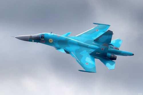 Foto de archivo del caza ruso Sukhoi-34