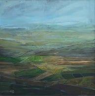 """Marj Ibn Amer"". Acrylic on Canvas – 120 X 120 cm, 2015. [Rafat Asad]"