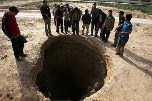 Entrada a un túnel de Gaza.