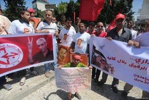 Protestas en Palestina por la liberación de Bilal Kayid