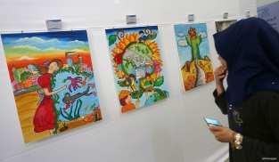 GAZA, PALESTINA: Exhibición de los sueños de los artistas gazatíes para la Franja en 2020
