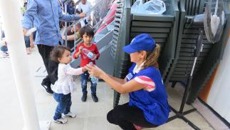 ALEPO, SIRIA: Celebración de la Fiesta del Sacrificio en un orfanato con miembros de la ONG turca Humanitarian Relief, (IHH) en el barrio de Azez.