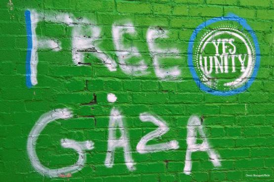 "Grafiti en Dublín "" Gaza libre"".[Denis Bocquet / flickr]"
