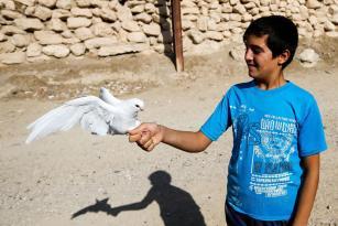 NÍNIVE, IRAK: El símbolo de la paz y la libertad.