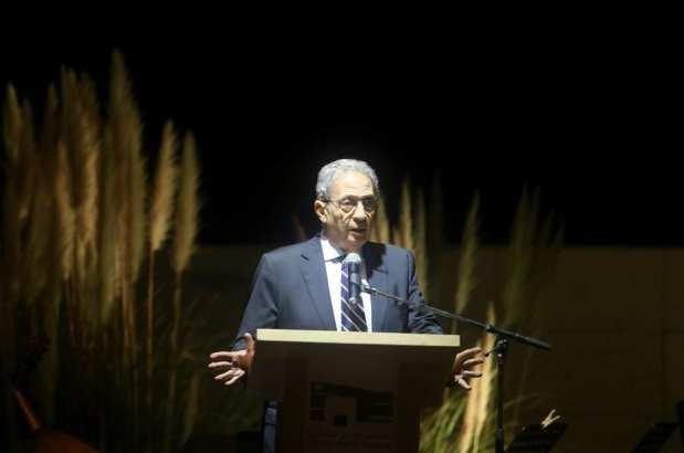 RAMALA- CISJORDANIA - 09 DE NOVIEMBRE: El ex Secretario General de la Liga Árabe, Amr Moussa, pronuncia un discurso durante la ceremonia de apertura del Museo Yasser Arafat en Ramallah, Cisjordania el 9 de noviembre de 2016. Un museo dedicado a Yasser Arafat, Líder pasó gran parte de sus últimos años, abrió el miércoles antes del aniversario de su muerte. (Issam Rimawi - Agencia Anadolu)