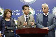 Mesut Haydar, miembro de la Asamblea Nacional Iraquí, celebra una conferencia de prensa en el parlamento tras la aprobación del presupuesto de 2017 en Bagdad, Irak, el 7 de diciembre de 2016 [Murtadha Sudani / Agencia Anadolu]