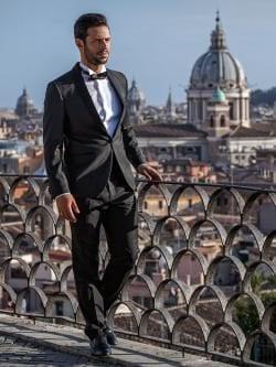 Omar Kamal durante el rodaje de 'Love Never Felt So Good', Italia. [Elio L. Carchidi / Estudio 154, Roma]