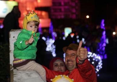 BEIRUT, LÍBANO - 1 DE ENERO: El pueblo libanés asiste a las celebraciones del Año Nuevo en el cuadrado de los mártires en Beirut, Líbano el 1 de enero de 2017. (Enes Kanlı - Agencia de Anadolu)